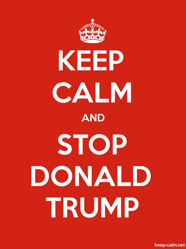 KEEP CALM AND STOP DONALD TRUMP - white/red - Default (600x800)