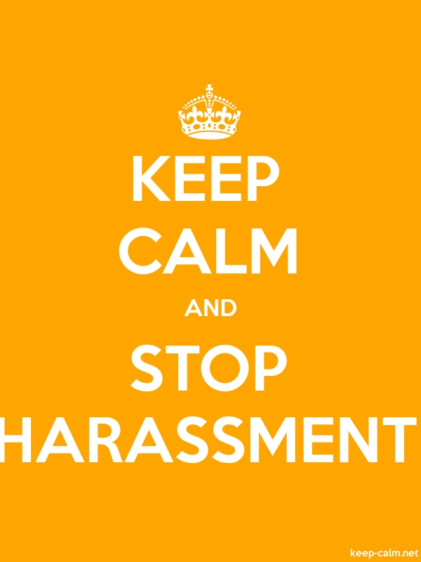 KEEP CALM AND STOP HARASSMENT - white/orange - Default (600x800)