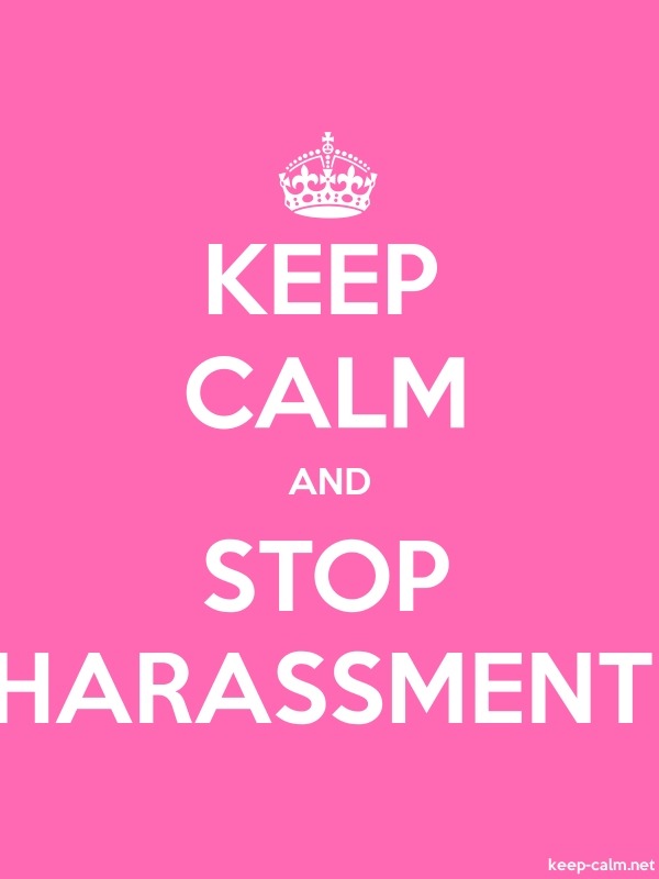 KEEP CALM AND STOP HARASSMENT - white/pink - Default (600x800)