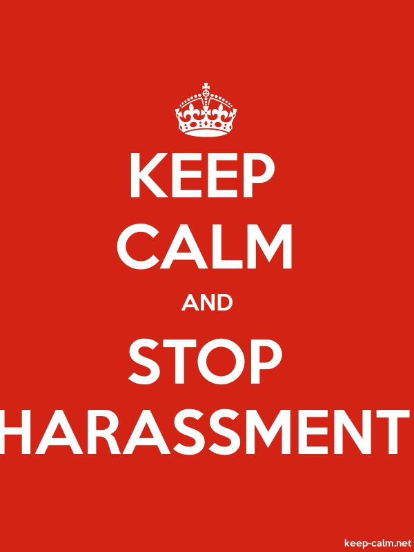 KEEP CALM AND STOP HARASSMENT - white/red - Default (600x800)