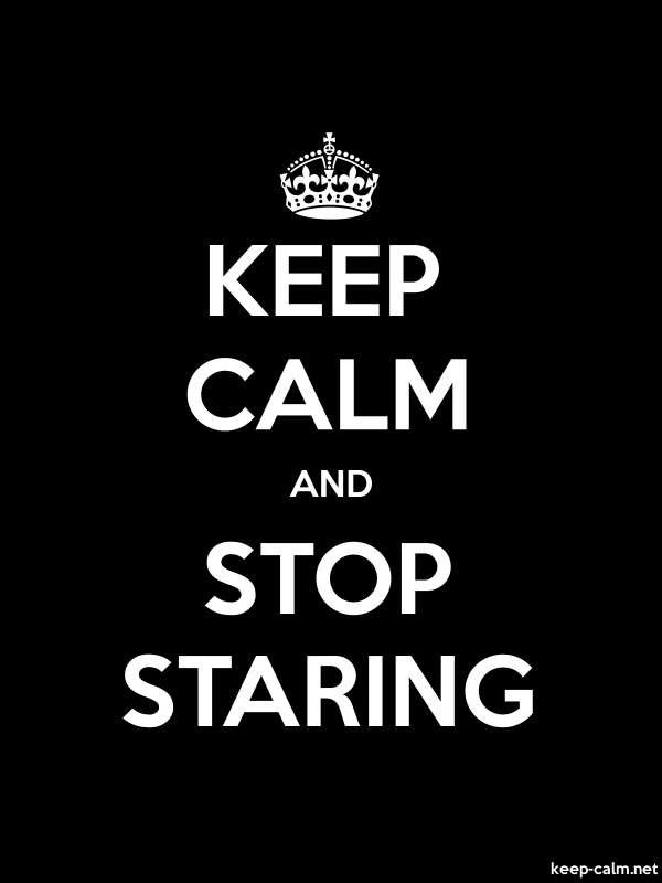 KEEP CALM AND STOP STARING - white/black - Default (600x800)