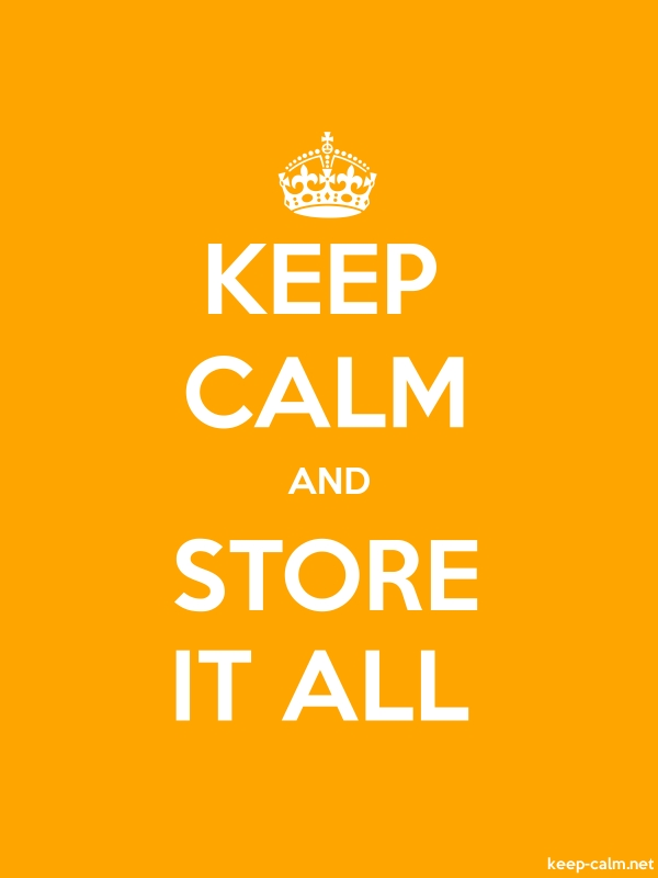 KEEP CALM AND STORE IT ALL - white/orange - Default (600x800)