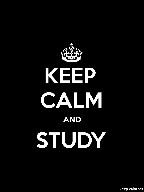 KEEP CALM AND STUDY - white/black - Default (600x800)