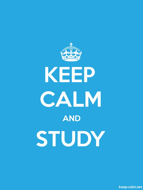 KEEP CALM AND STUDY - white/blue - Default (600x800)