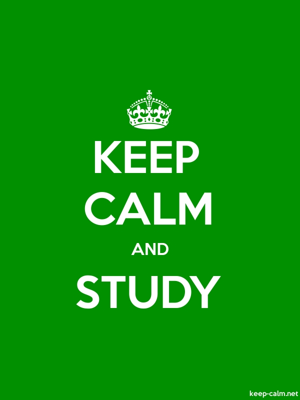 KEEP CALM AND STUDY - white/green - Default (600x800)