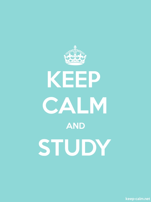 KEEP CALM AND STUDY - white/lightblue - Default (600x800)