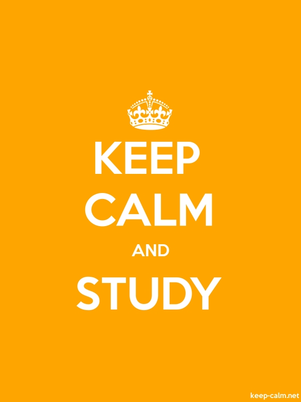 KEEP CALM AND STUDY - white/orange - Default (600x800)