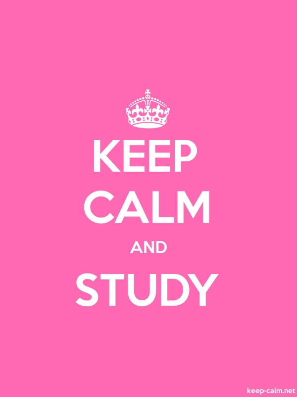 KEEP CALM AND STUDY - white/pink - Default (600x800)