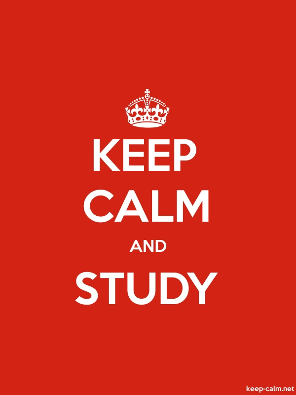 KEEP CALM AND STUDY - white/red - Default (600x800)