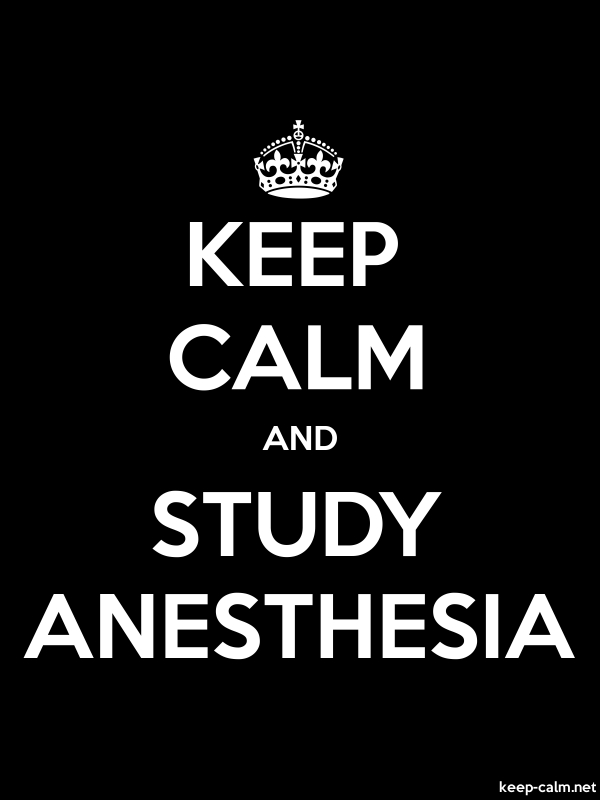 KEEP CALM AND STUDY ANESTHESIA - white/black - Default (600x800)