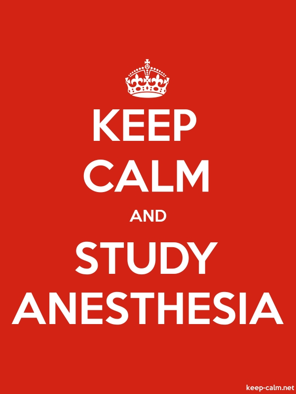 KEEP CALM AND STUDY ANESTHESIA - white/red - Default (600x800)