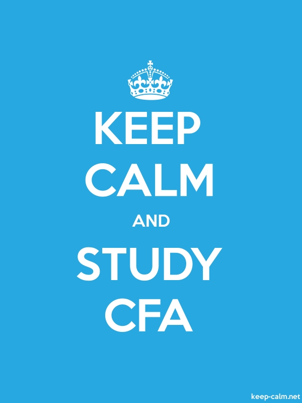 KEEP CALM AND STUDY CFA - white/blue - Default (600x800)