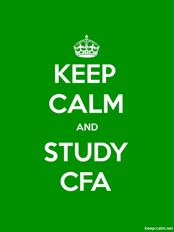 KEEP CALM AND STUDY CFA - white/green - Default (600x800)