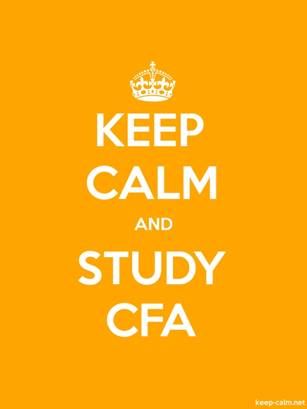 KEEP CALM AND STUDY CFA - white/orange - Default (600x800)