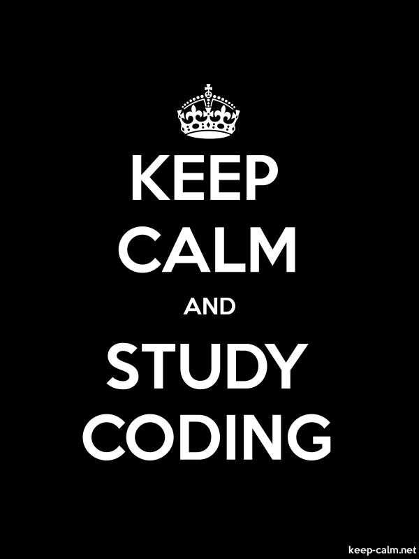KEEP CALM AND STUDY CODING - white/black - Default (600x800)