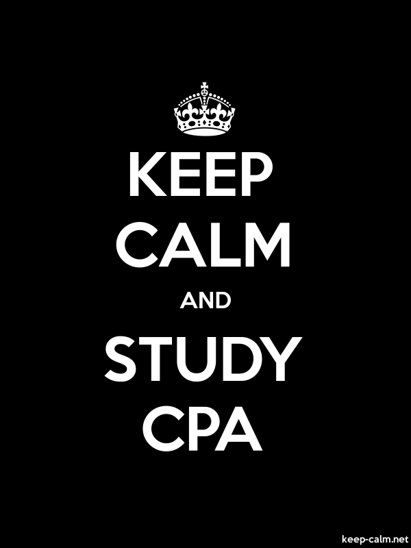 KEEP CALM AND STUDY CPA - white/black - Default (600x800)