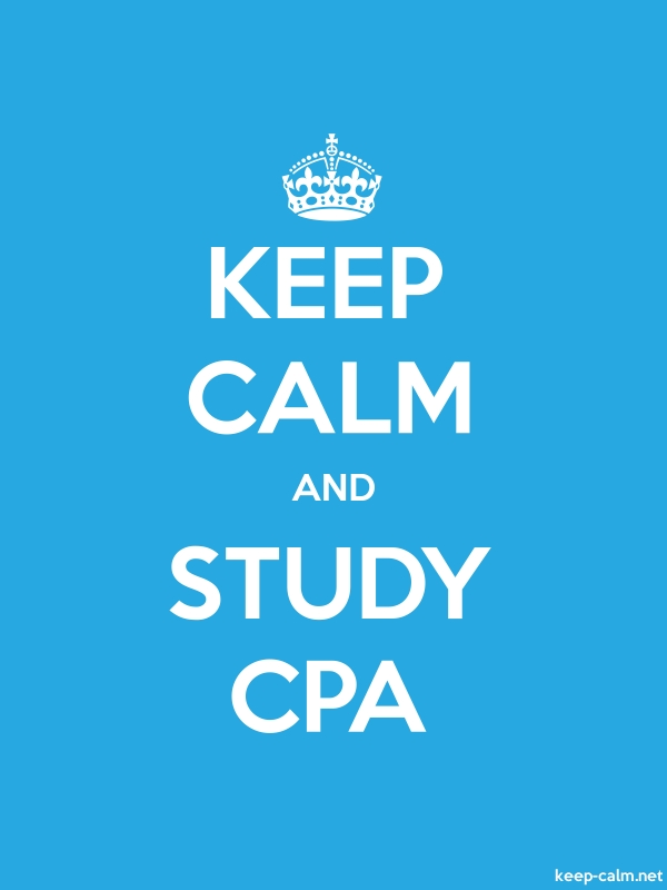 KEEP CALM AND STUDY CPA - white/blue - Default (600x800)
