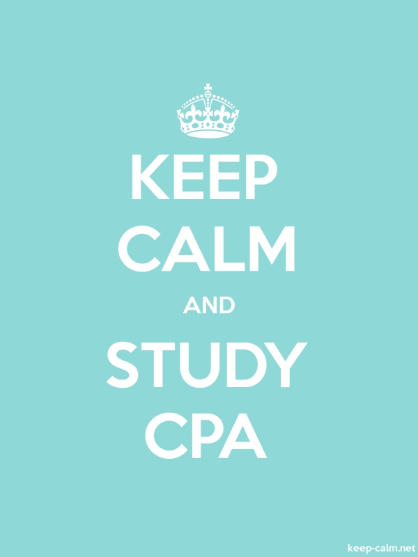 KEEP CALM AND STUDY CPA - white/lightblue - Default (600x800)
