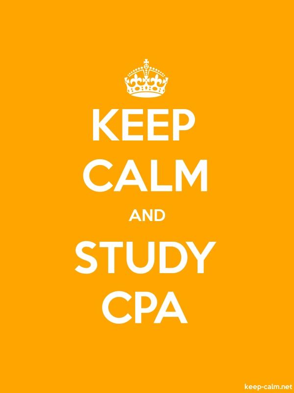 KEEP CALM AND STUDY CPA - white/orange - Default (600x800)