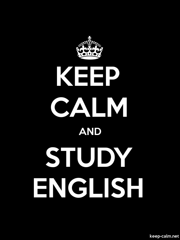 KEEP CALM AND STUDY ENGLISH - white/black - Default (600x800)