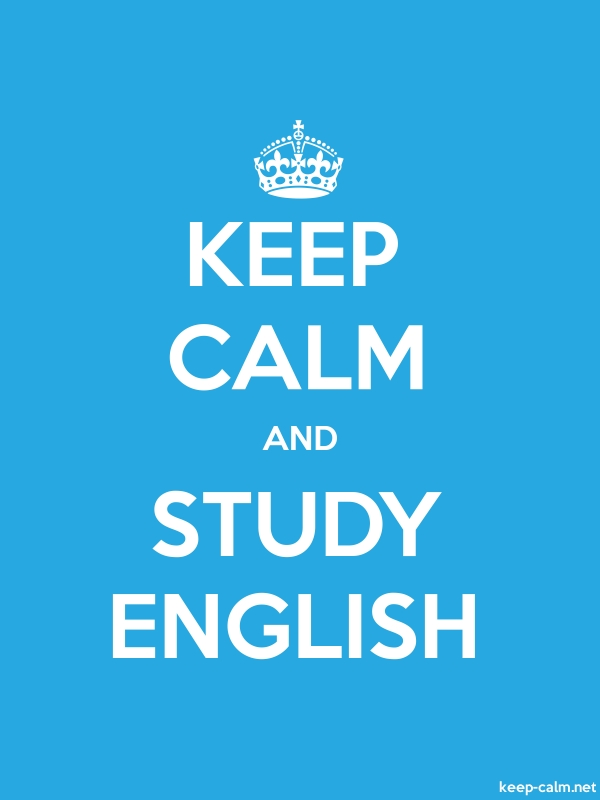 KEEP CALM AND STUDY ENGLISH - white/blue - Default (600x800)