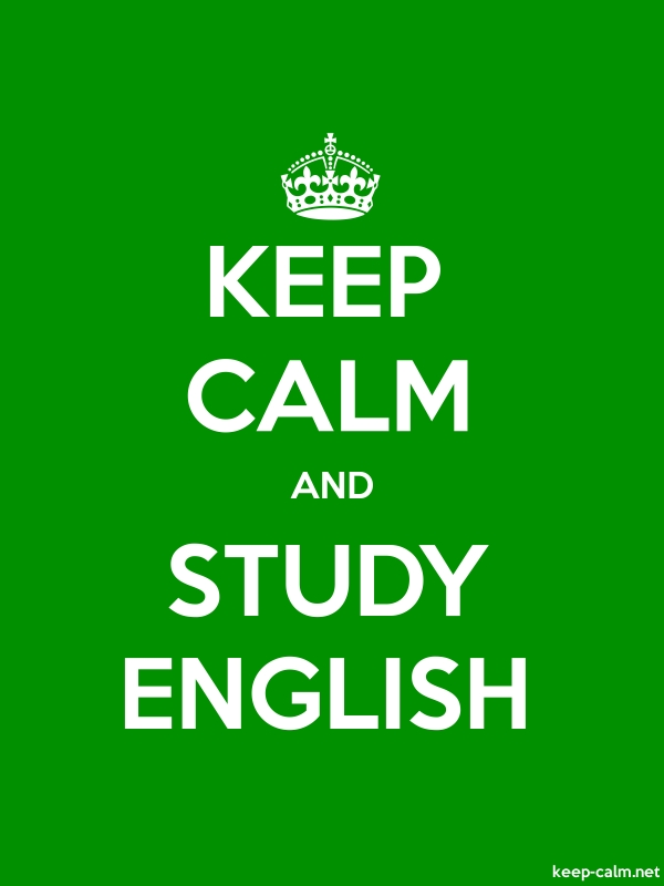 KEEP CALM AND STUDY ENGLISH - white/green - Default (600x800)