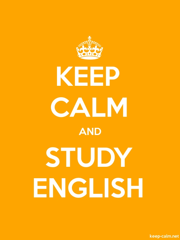 KEEP CALM AND STUDY ENGLISH - white/orange - Default (600x800)