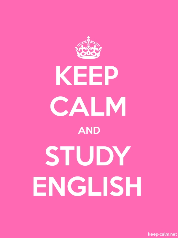 KEEP CALM AND STUDY ENGLISH - white/pink - Default (600x800)