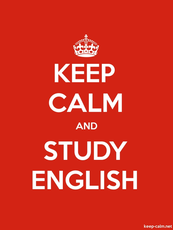 KEEP CALM AND STUDY ENGLISH - white/red - Default (600x800)
