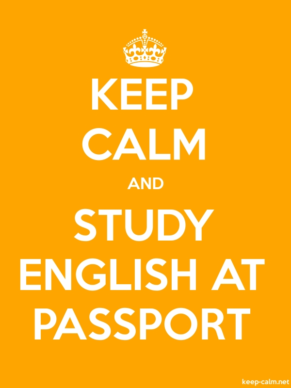 KEEP CALM AND STUDY ENGLISH AT PASSPORT - white/orange - Default (600x800)