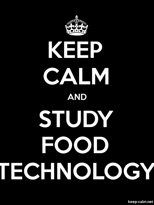 KEEP CALM AND STUDY FOOD TECHNOLOGY - white/black - Default (600x800)
