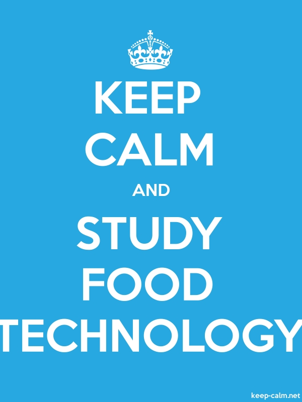 KEEP CALM AND STUDY FOOD TECHNOLOGY - white/blue - Default (600x800)