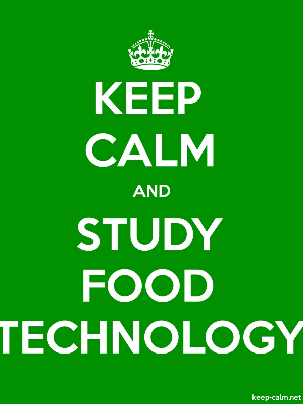 KEEP CALM AND STUDY FOOD TECHNOLOGY - white/green - Default (600x800)