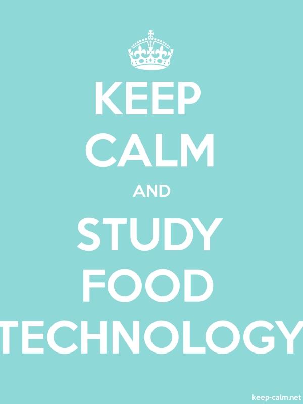 KEEP CALM AND STUDY FOOD TECHNOLOGY - white/lightblue - Default (600x800)
