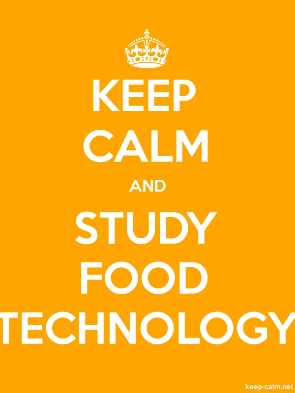 KEEP CALM AND STUDY FOOD TECHNOLOGY - white/orange - Default (600x800)