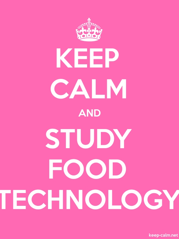 KEEP CALM AND STUDY FOOD TECHNOLOGY - white/pink - Default (600x800)
