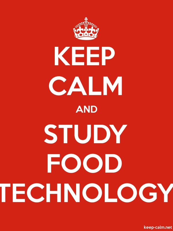 KEEP CALM AND STUDY FOOD TECHNOLOGY - white/red - Default (600x800)