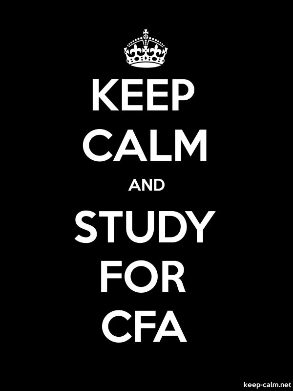 KEEP CALM AND STUDY FOR CFA - white/black - Default (600x800)