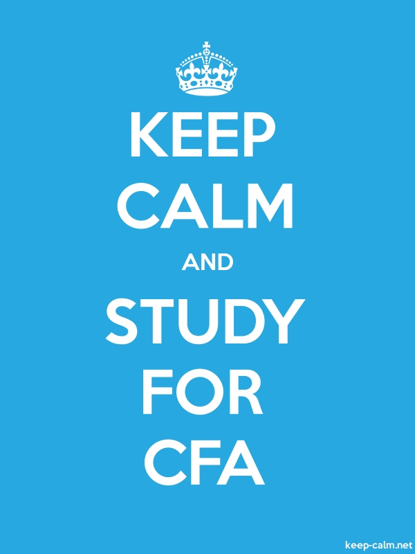 KEEP CALM AND STUDY FOR CFA - white/blue - Default (600x800)