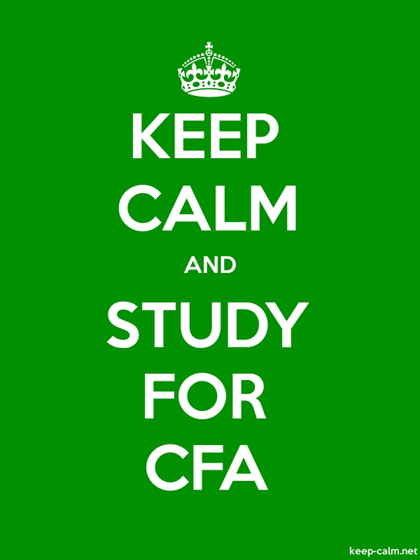 KEEP CALM AND STUDY FOR CFA - white/green - Default (600x800)