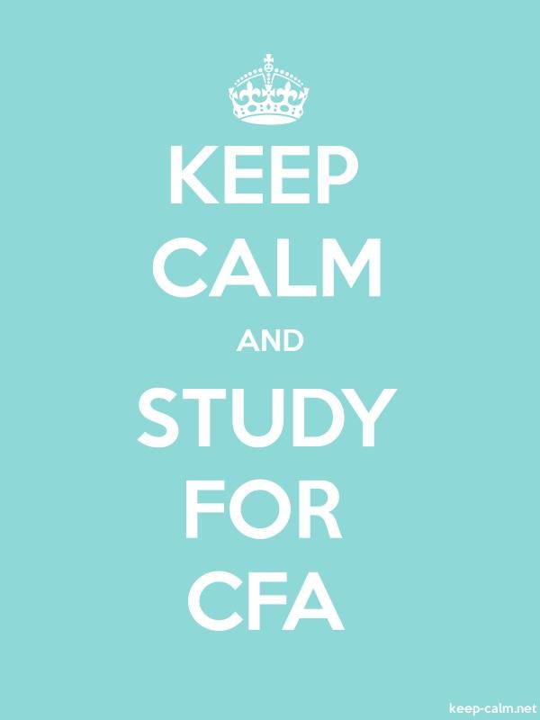 KEEP CALM AND STUDY FOR CFA - white/lightblue - Default (600x800)