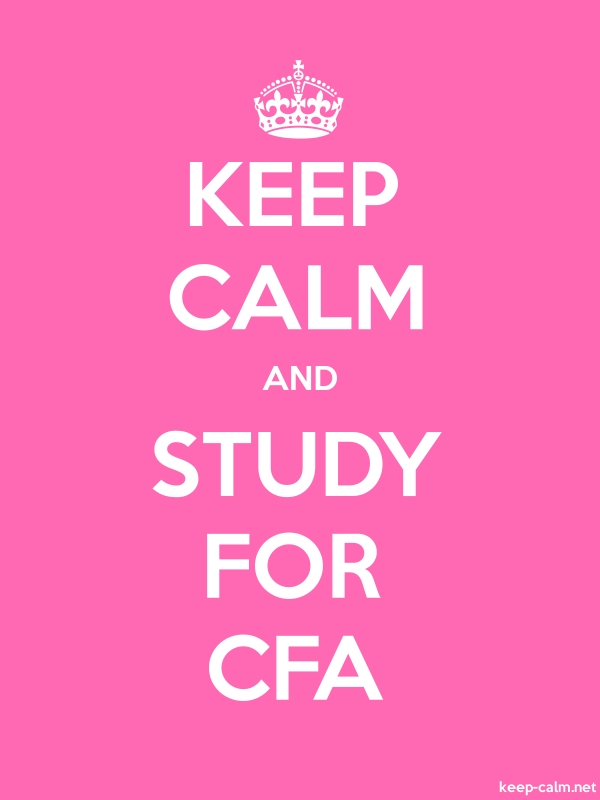 KEEP CALM AND STUDY FOR CFA - white/pink - Default (600x800)
