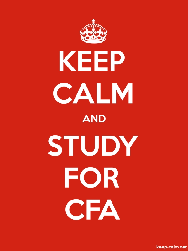 KEEP CALM AND STUDY FOR CFA - white/red - Default (600x800)