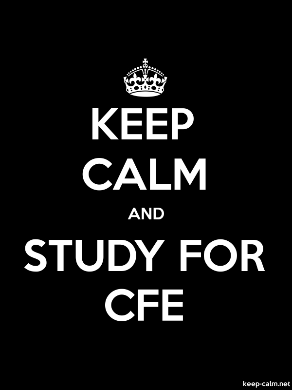 KEEP CALM AND STUDY FOR CFE - white/black - Default (600x800)