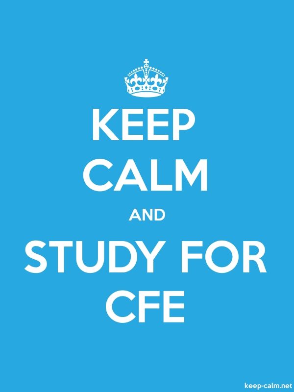 KEEP CALM AND STUDY FOR CFE - white/blue - Default (600x800)