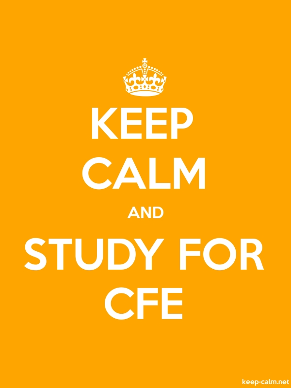 KEEP CALM AND STUDY FOR CFE - white/orange - Default (600x800)