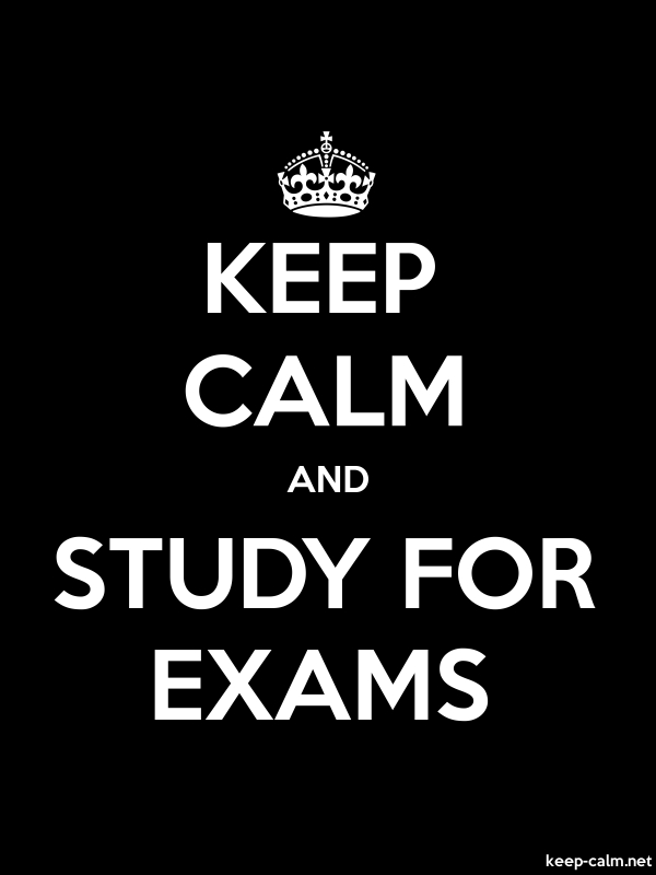KEEP CALM AND STUDY FOR EXAMS - white/black - Default (600x800)
