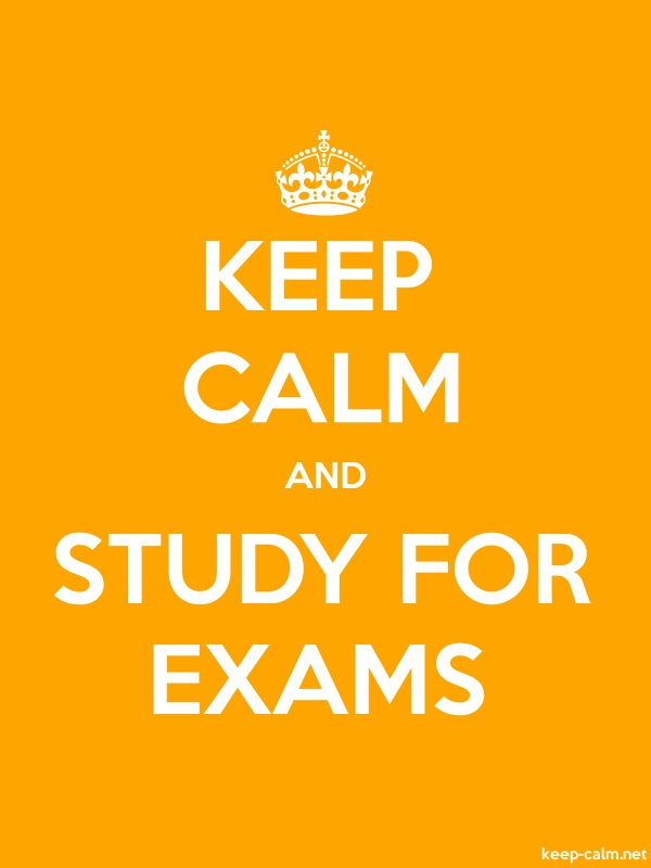 KEEP CALM AND STUDY FOR EXAMS - white/orange - Default (600x800)