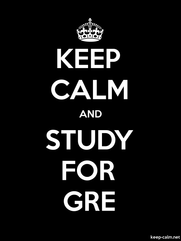 KEEP CALM AND STUDY FOR GRE - white/black - Default (600x800)
