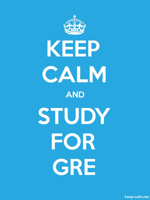 KEEP CALM AND STUDY FOR GRE - white/blue - Default (600x800)